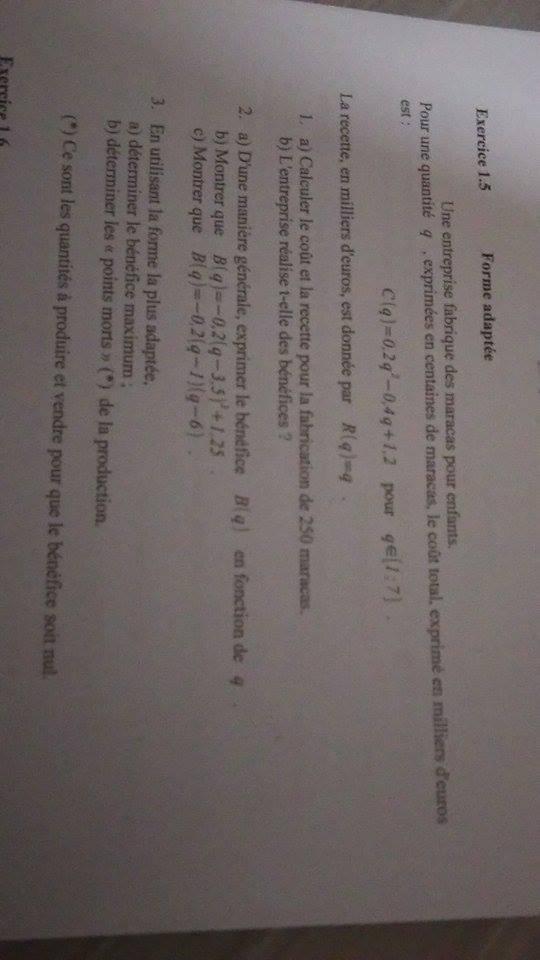 Dm Premi 232 Re Es Math 233 Matiques E Bahut Site D Aide Aux