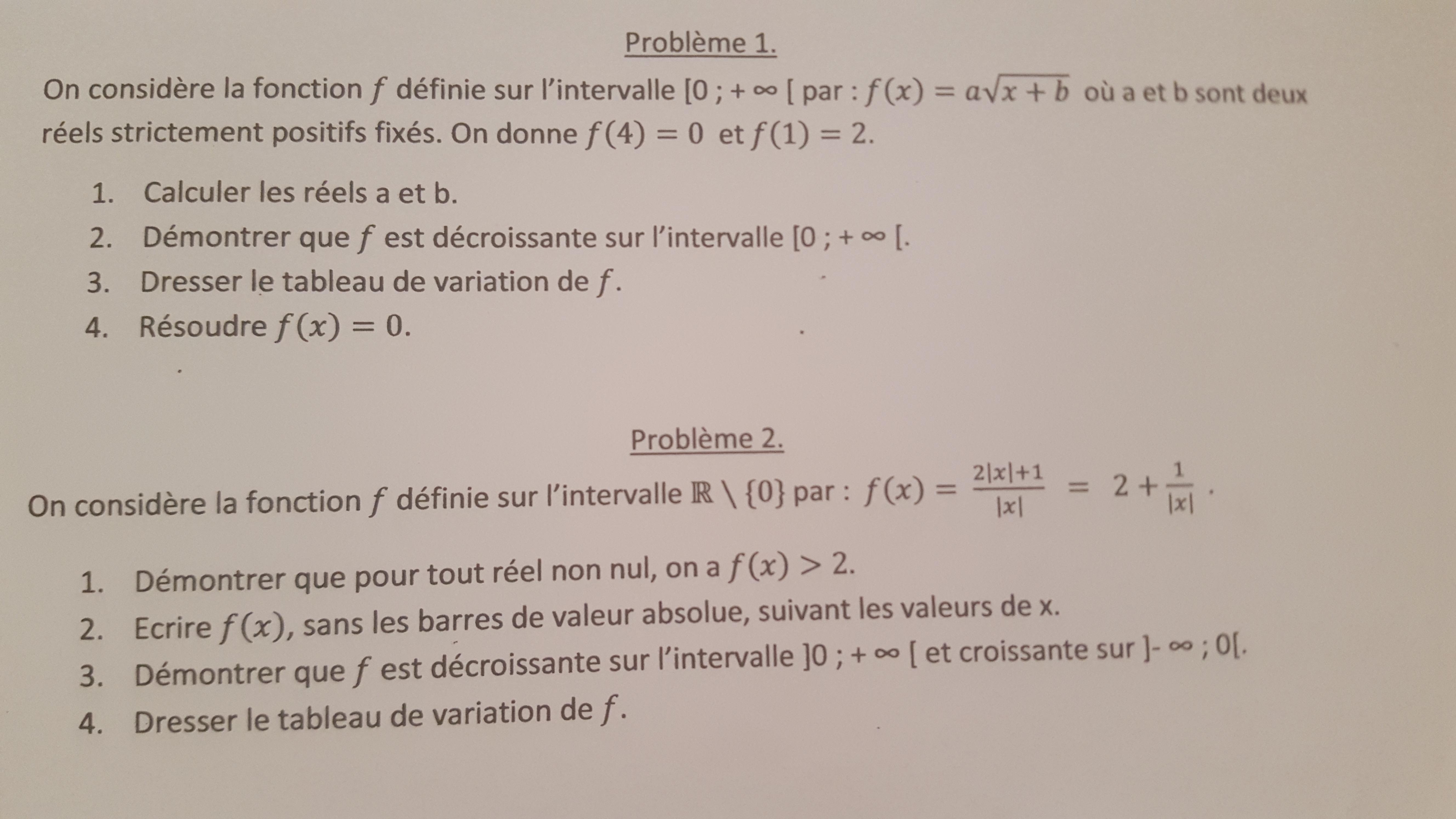 Devoir maison tude de fonction 1 re s math matiques e for Aide devoir maison
