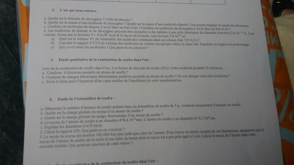 Devoir maison de physique chimie sciences e bahut for Aide devoir maison