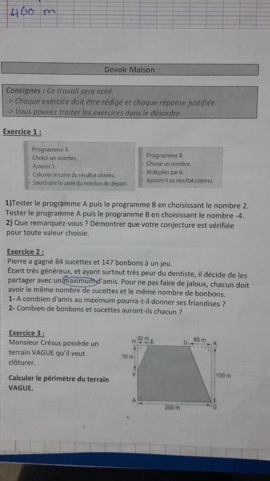 Devoir maison niv 3 me math matiques e bahut site d for Aide devoir maison