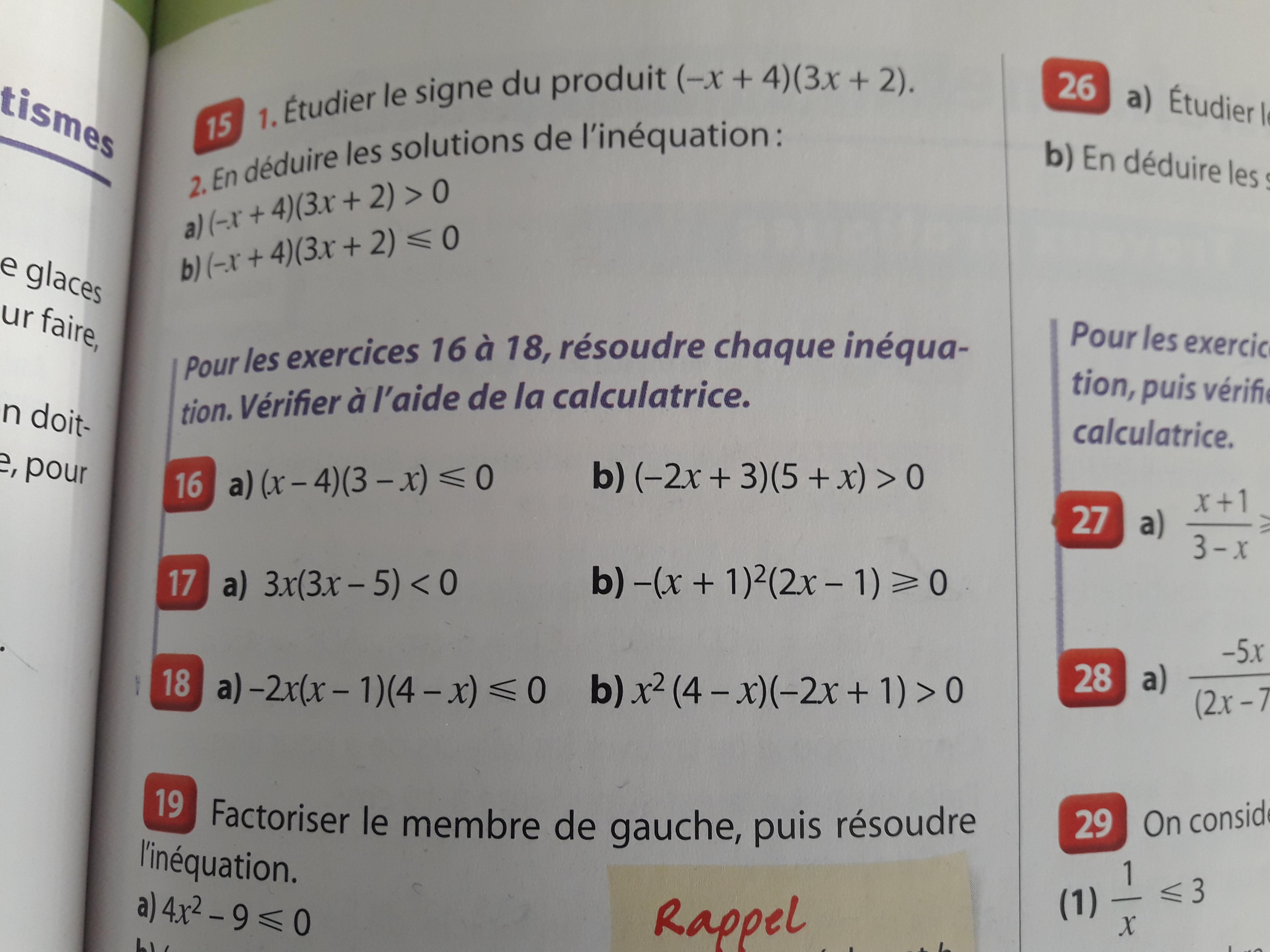 Exercice Maths Seconde Mathematiques E Bahut Site D Aide Aux Devoirs